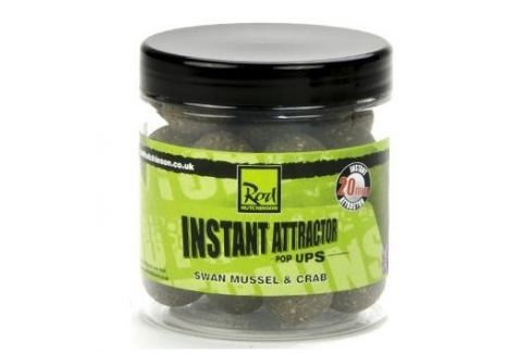 ROD HUTCHINSON Instant Attractor Pop Ups Swan Mussel&Crab 14 mm Plovoucí boilies