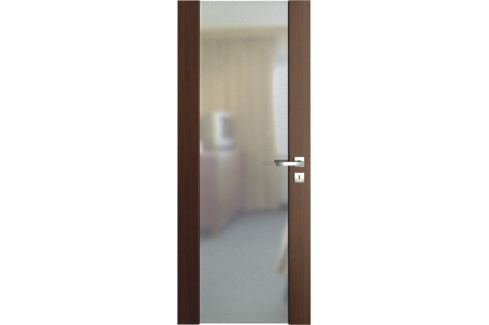 VASCO DOORS Interiérové dveře VENTURA SATINATO matné sklo, Dub skandinávský, C 80 cm, pravé