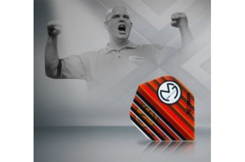 XQMax Darts Letky Michael van Gerwen - MvG Transparent orange F2509 Letky