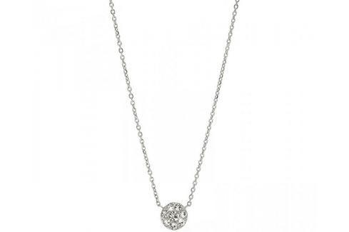 Fossil Ocelový náhrdelník s krystaly JF00844040 Náhrdelníky