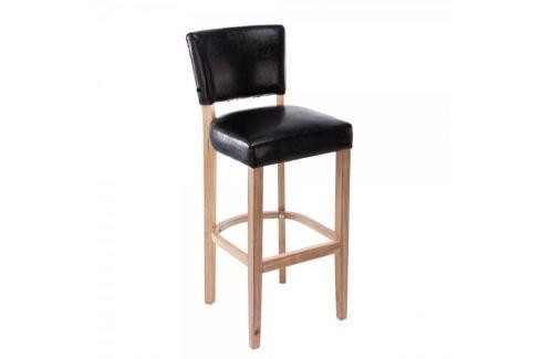 BHM Germany Barová židle s dřevěnou podnoží Ellen, černá Barové židle