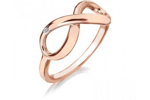 Hot Diamonds Bronzový prsten Infinity DR175 (Obvod 56 mm) stříbro 925/1000 Prsteny
