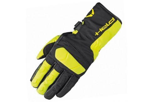Held rukavice DESCOT vel.8 černá/fluo žlutá, textil/kůže (pár) Rukavice na motorku