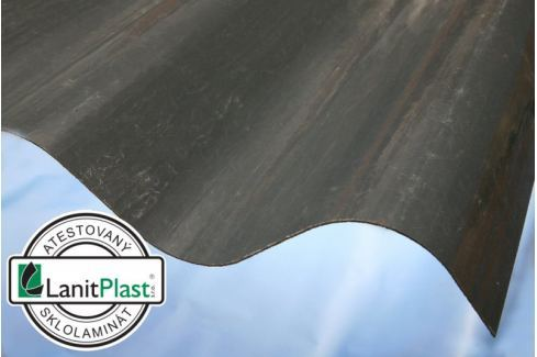 LanitPlast Sklolaminát vlna 177/51 síla 1,2 mm sv. šedý 1,096x2,50 m Vlnité desky ze sklolaminátu