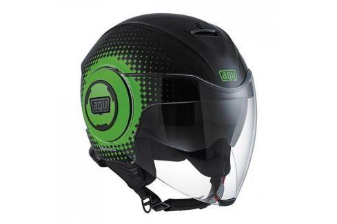 AGV přilba FLUID Pix, černá/zelená vel.L (59-60cm) Helmy na motorku