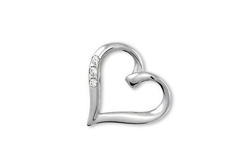 Brilio Zlatý přívěsek srdce s krystaly 249 001 00354 07 - 0,80 g zlato bílé 585/1000 Přívěsky