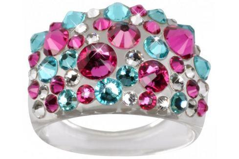 Troli Prsten Bubble Pink/Turquois (Obvod 50 mm) Prsteny