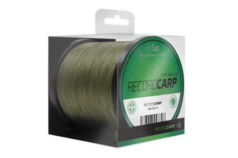 FIN Splétaná šňůra Record Carp 1000 m Zelená 0,26 mm, 26,4 lb Splétané šňůry