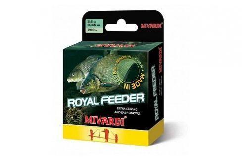 MIVARDI Vlasec Royal Feeder Green 200 m 0,165 mm, 3,2 kg Vlasce