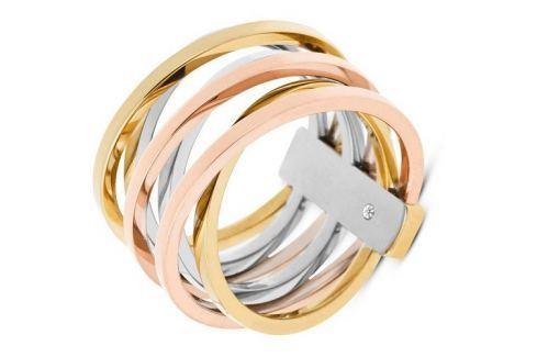 Michael Kors Ocelový tricolor prsten MKJ4421998 (Obvod 56 mm) Prsteny