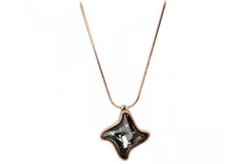 Troli Bronzový náhrdelník Twister Silver Night Náhrdelníky