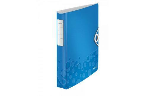 Mobilní kroužkový pořadač 4xD kroužky Leitz ACTIVE WOW 5,2 cm metalický modrý Pořadače