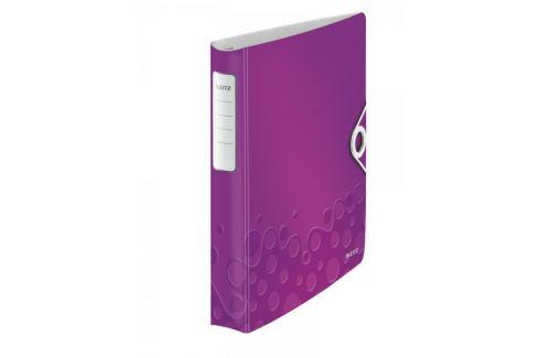 Mobilní kroužkový pořadač 4xD kroužky Leitz ACTIVE WOW 5,2 cm purpurový Pořadače
