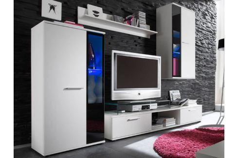 Obývací stěna SALSA, bílá Obývací stěny