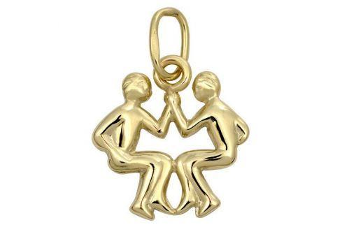 Brilio Zlatý přívěsek Blíženci 241 001 00812 - 0,35 g zlato žluté 585/1000 Přívěsky