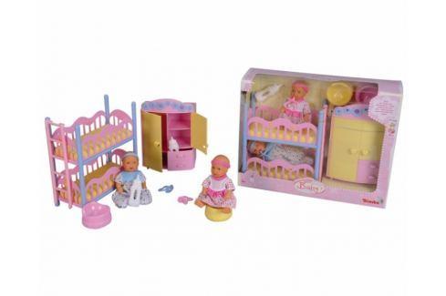 Simba MNB Dětský pokoj + 2 panenky (pije + čůrá) 12 cm Doplňky pro panenky