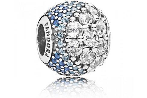 Pandora Zamilovaný korálek s modrými kamínky 797032NABMX stříbro 925/1000 Přívěsky