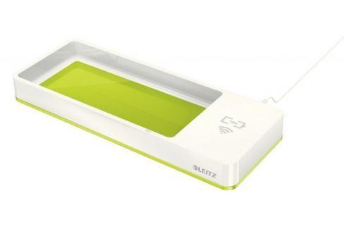 Stolní organizér s bezdrátovou nabíječkou Leitz WOW zelený/bílý Doplňky na stůl