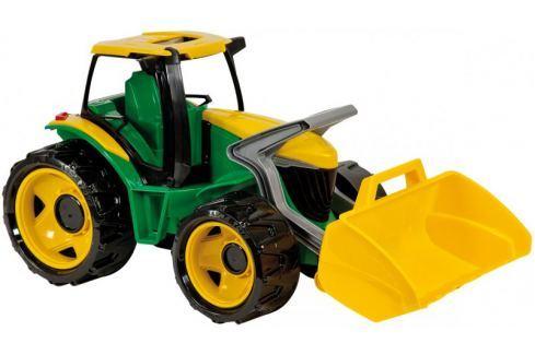LENA Traktor se lžíci, zeleno žlutý Auta