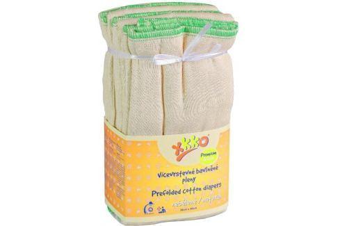 XKKO Skládané bavlněné pleny Natural - Premium Látkové plenky