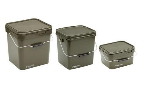 Trakker Plastový box Olive Square Container 17 Litrů Kbelíky, síta, misky