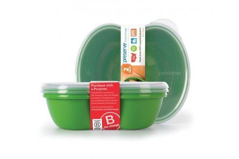 Preserve Svačinový box (2 ks) - zelený Plastové nádoby
