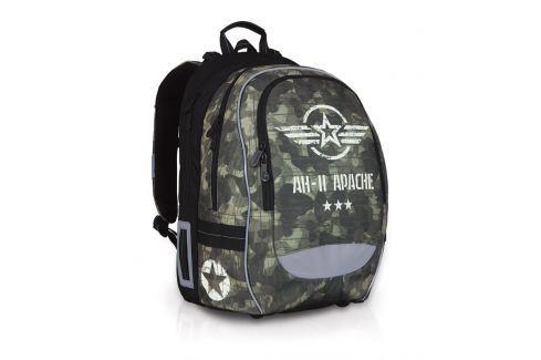 Školní batoh Topgal CHI 752 R - Khaki Školní batohy do 4. a 5. třídy
