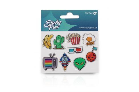 Sticky Pins Topgal TOP 166 D - Blue Samolepící odznáčky