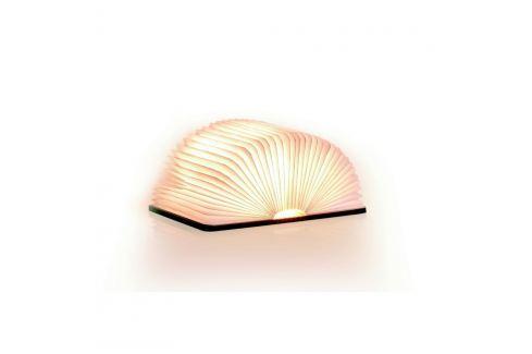 Světle hnědá LED stolní lampa ve tvaru knihy z javorového dřeva Gingko Mini Stolní lampy