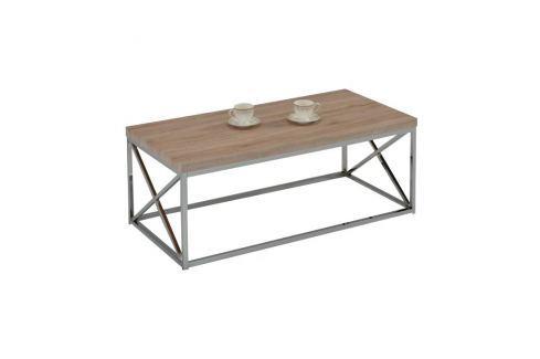 TEMPO KONDELA Konferenční stolek, dub sonoma HG, COLMAN Konferenční stolky