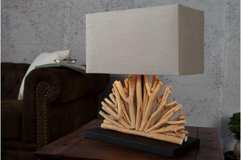 Masiv24 - Stolní lampa LUPUS II - béžová Svítidla